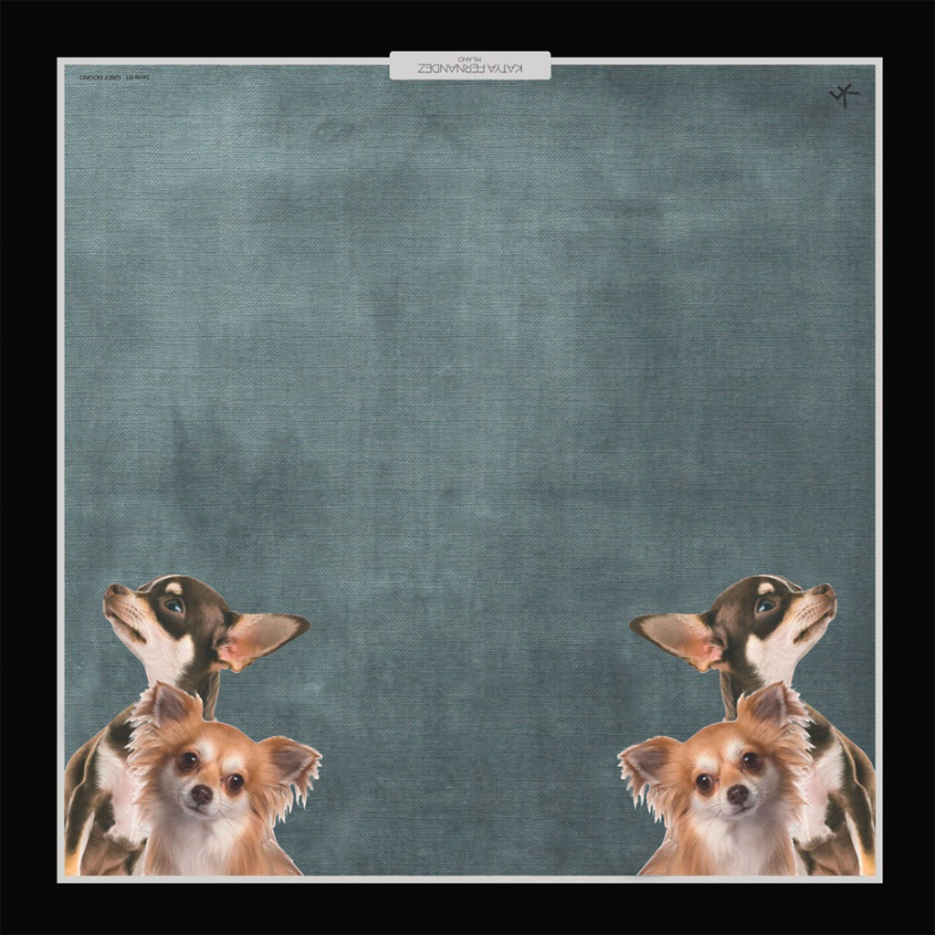 Silk Foulard Chihuahua - Pet Series by Katya Fernandez