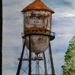 Art Color Water Tower  Digital Print