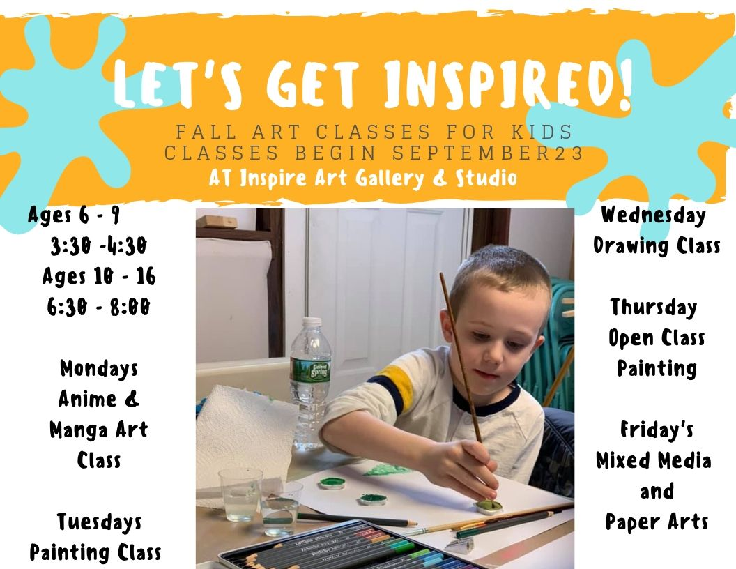 Fall 2019 Inspire Art Classes