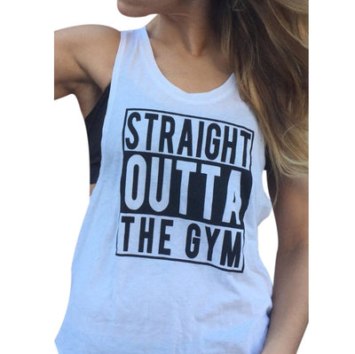 STRAIGHT OUTTA THE GYM TANK