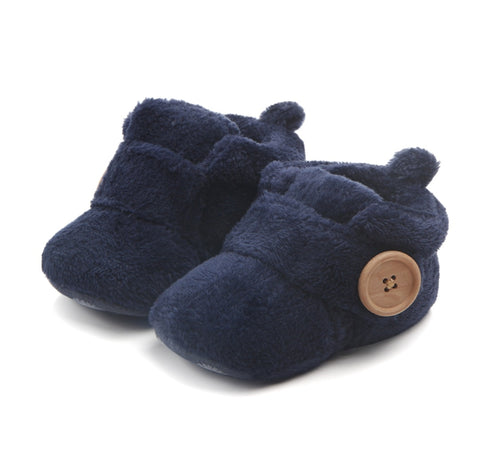 Fluffy Slipper in Navy