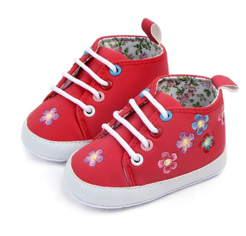 EMBROIDERY Baby Bootee Red