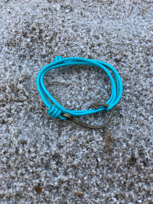 Hooks4Hope Bracelet For The River - Seafoam/Bronze