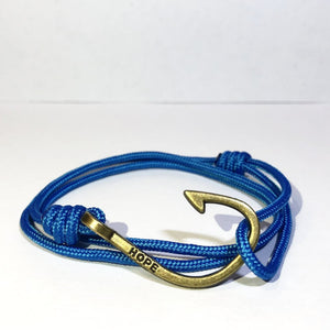 Hooks4Hope Bracelet For The River - Ocean Blue/Bronze