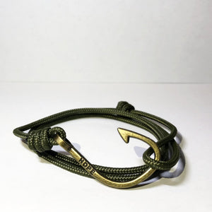 Hooks4Hope Bracelet For The River - Green/Bronze