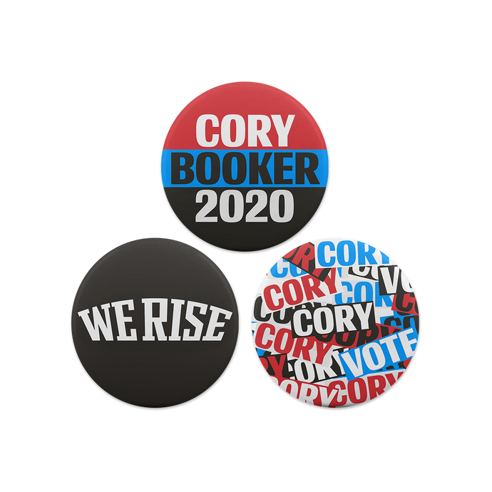 cory booker campaign button set