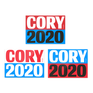 cory booker campaign sticker set