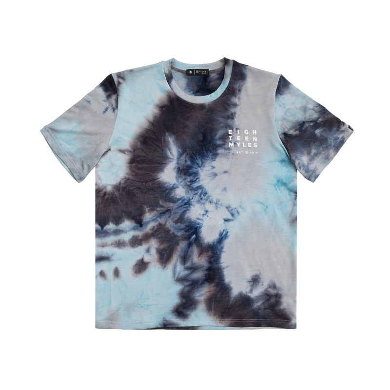ATOMIC BLUE TIE DYE T-SHIRT