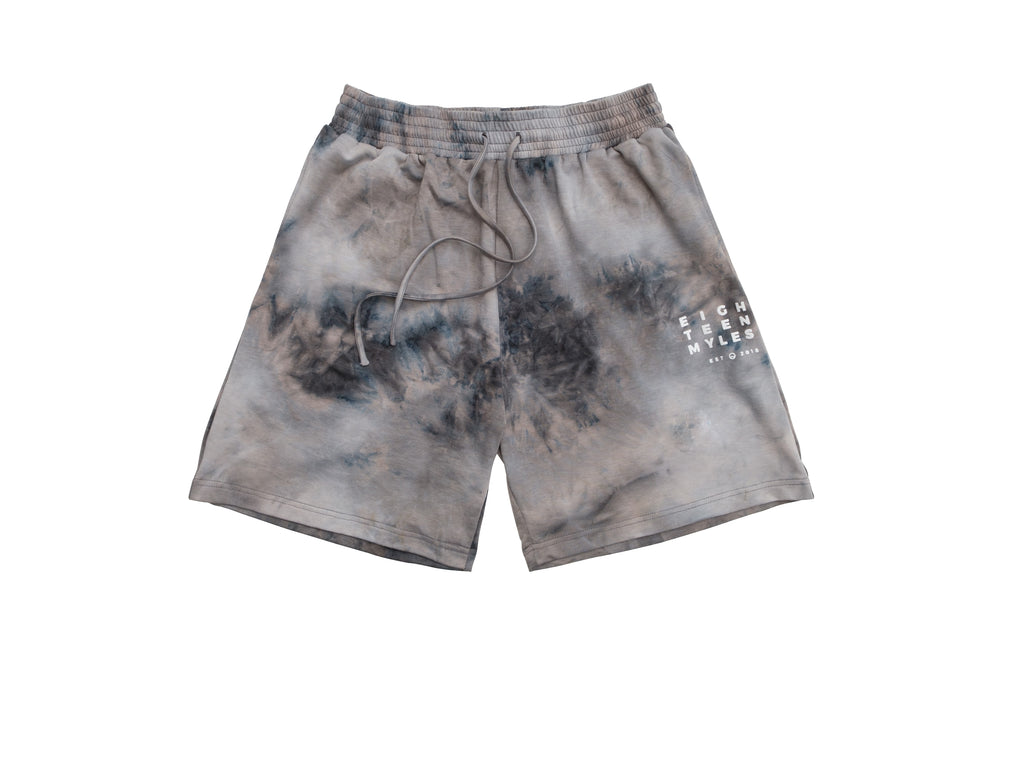 ATOMIC GREY TIE DYE BALLER SHORTS