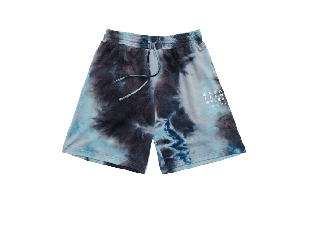 ATOMIC BLUE TIE DYE BALLER SHORTS
