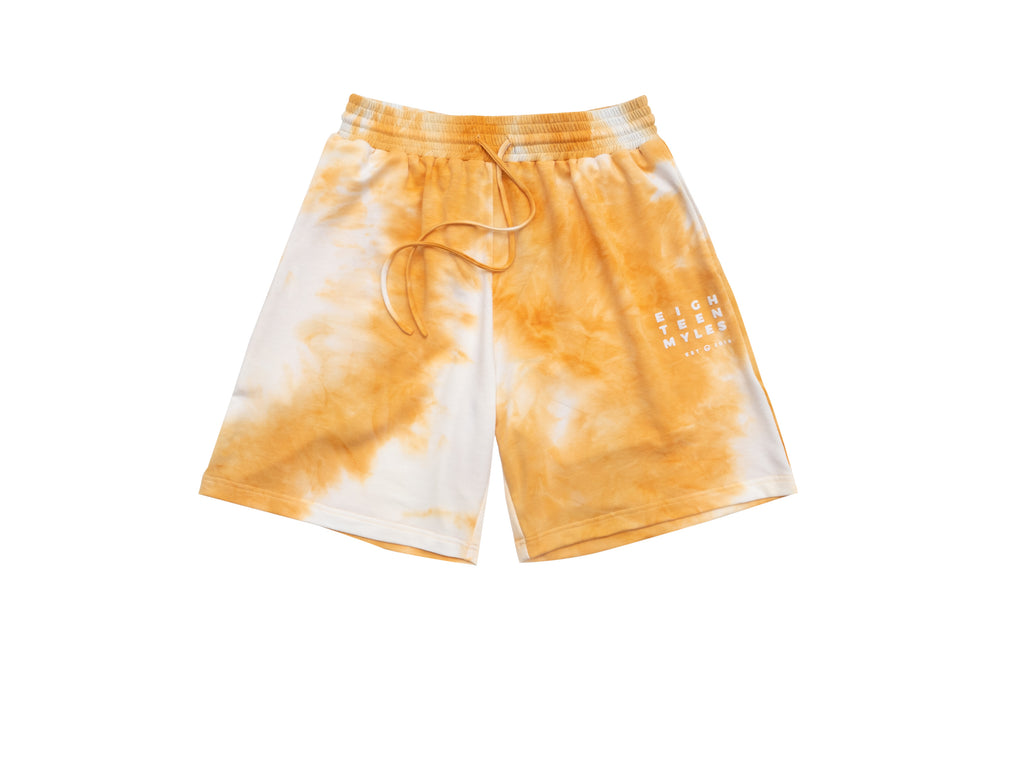 ATOMIC YELLOW TIE DYE BALLER SHORTS