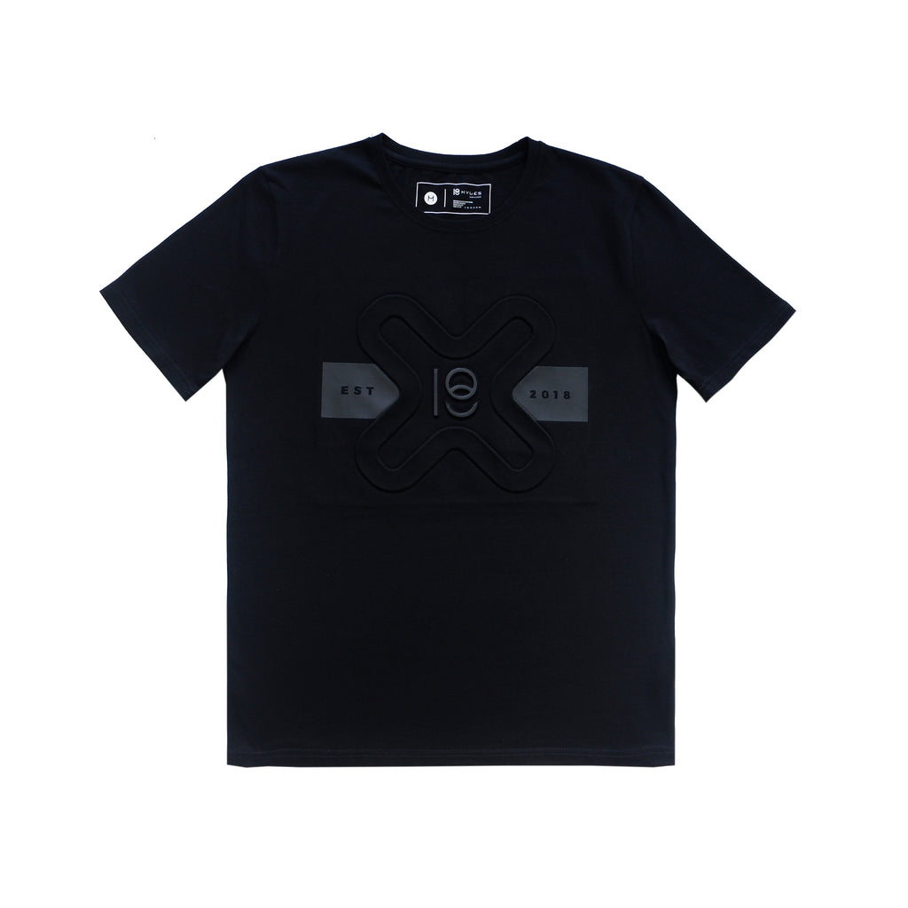 X SEAL EMBOSSED COTTON T-SHIRT