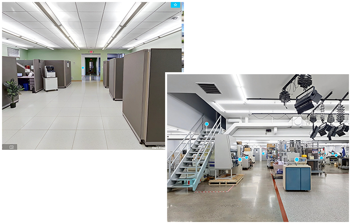 Snapshots of the interior of New Life Scientific