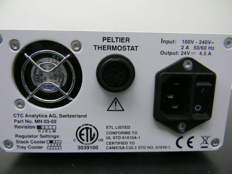 Used: CTC Analytics Peltier Thermostat Power Supply MN-03-02