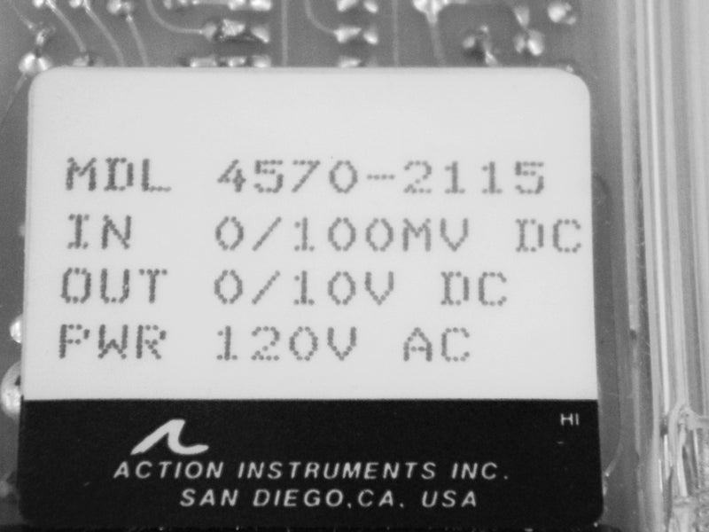 Used: Action Instruments Action Pak Signal Conditioner Relay 4570-2115