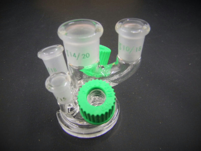 New/Open Box: Chemglass 6-Neck Reaction Vessel Lid Laboratory Glassware GSK-0301-221JS