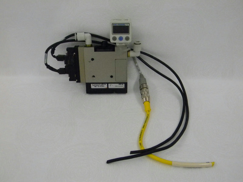 Used: SMC NZM-BA-1KT  NZM101H (2) NVJ114-5LOZ   ZSE40A Pneumatic Vacuum Ejector