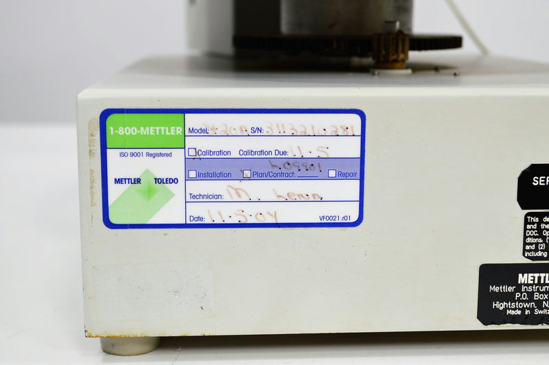 Used: Mettler ST20A Sample Changer Titration Accessory Management
