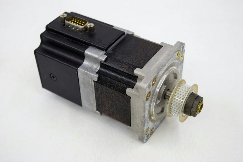"Used: Quicksilver SilverMax QCI-23-3-E-01 Servo Motor 48VDC 1/4"" Shaft w/ Gear Head"