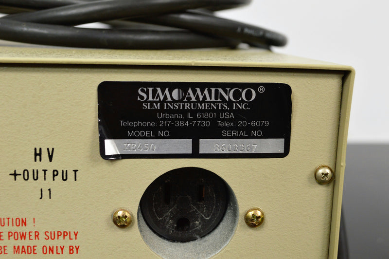 Used: SLM Aminco XE 450 Electronic Measurements EXLE 500-0336A Power Supply