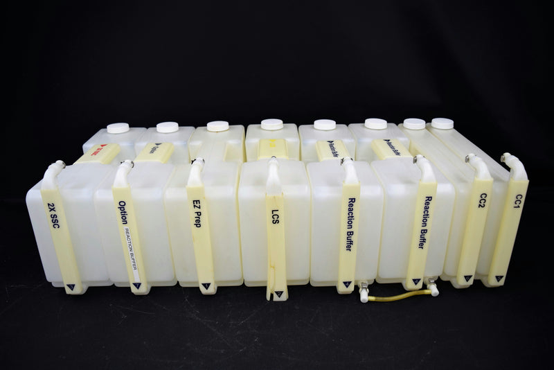Used: (Lot of 8) Different Bulk Reagent On-Board Containers from Ventana Discovery XT