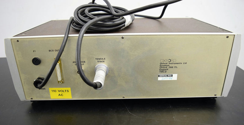 Used: Oxford TSC2 Tensile Compression Stage Control Unit CT1500 Cryo Preparation SEM