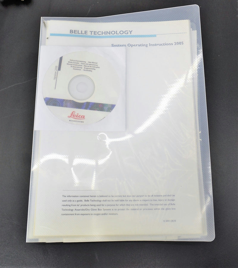 Used: Belle Technology Dry Anaerobic Glove Box Leica MZ6 Stereo-Microscope Module Cryo