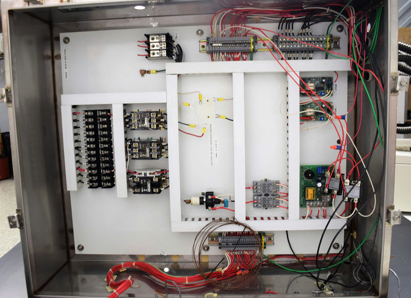 Used: Allied Stainless Enclosure w/ Square-D Transformer & Electrical Contactors