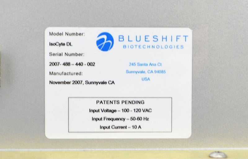 Used. MD Blueshift IsoCyte Dl Microplate Reader ImageXpress Velos Laser Cytometry