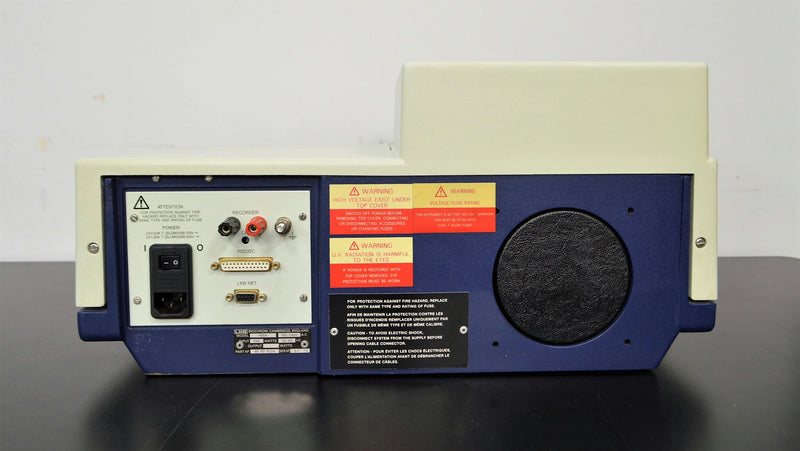 LKB Biochrom Ultrospec Plus 4054 Spectrophotmeter  rear view