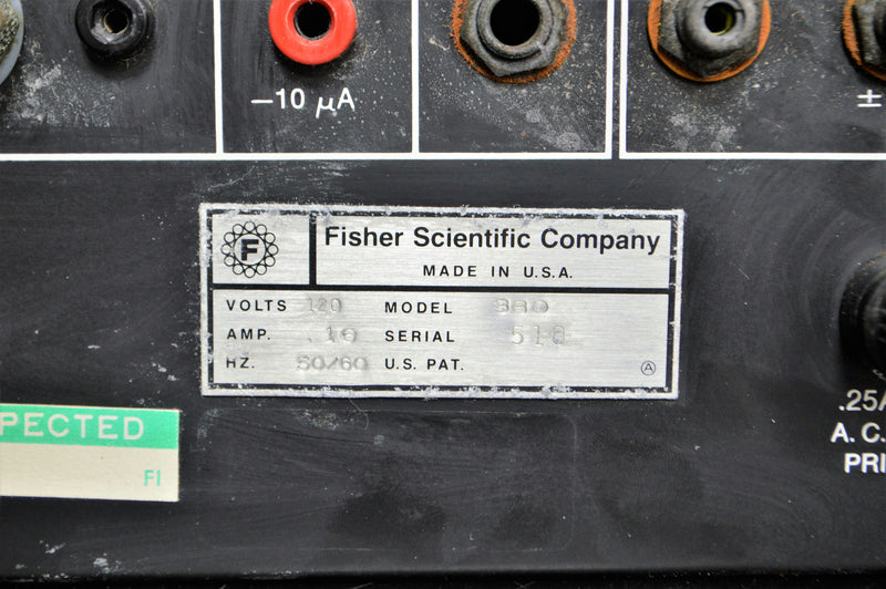 Used: Fisher Scientific Electrometer Model 380 Titration