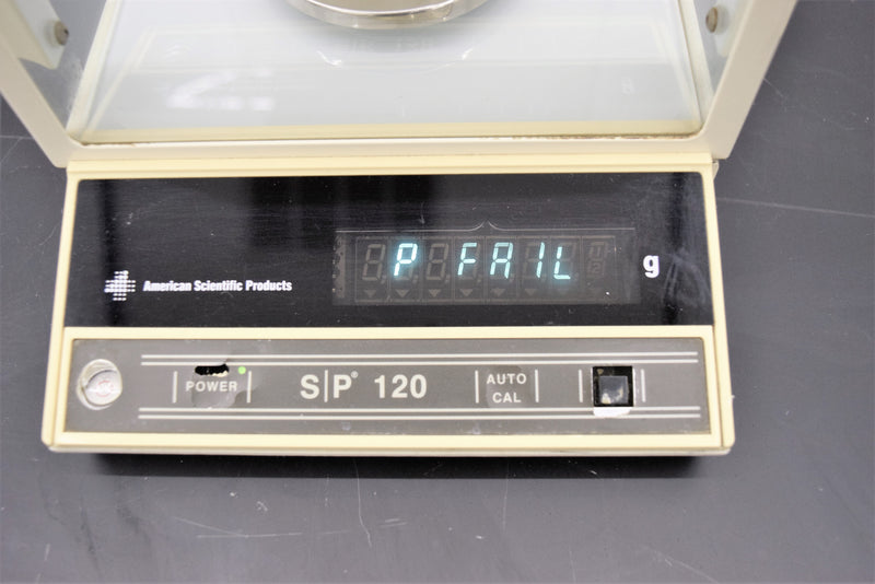 For Parts or Repair: American Scientific Balance SP120 Cat. No. B1240-2 Electronic Balance Scale