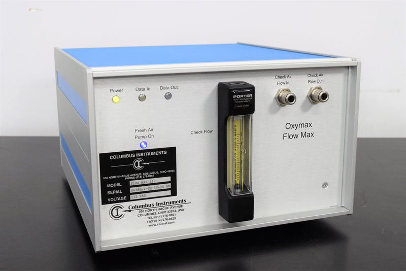 Used: Columbus Instruments Oxymax Flow Max 212 for use in Animal Testing