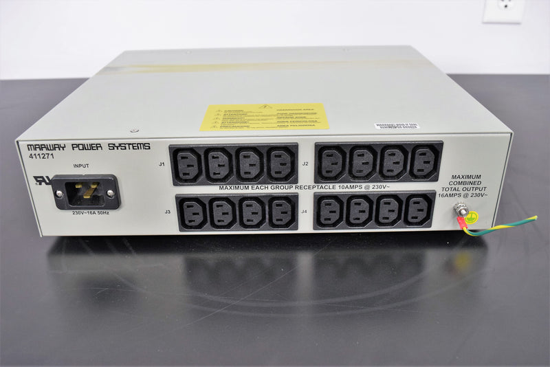 Used: Marway Power System MPD 411271 16-Outlet Power Supply f/Zymark SciClone ALH3000