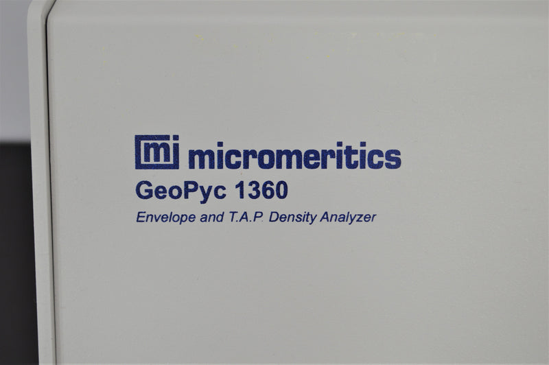 Used: Micromeritics GeoPyc 1360 Envelope Density Analyzer Roller Compaction Ribbon