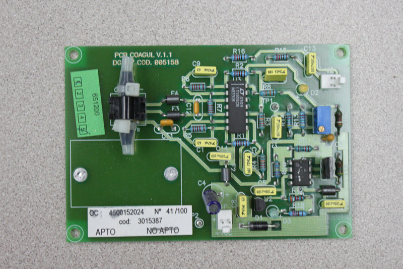 Used: COAGUL DG-57 COD. 005158 PCB for Ortho Provue
