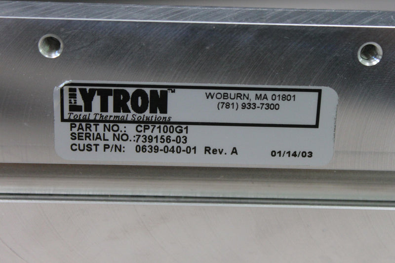 Used: Lytron CP7100G1 Cold Plate from VersaPulse PowerSuite Holmium Laser