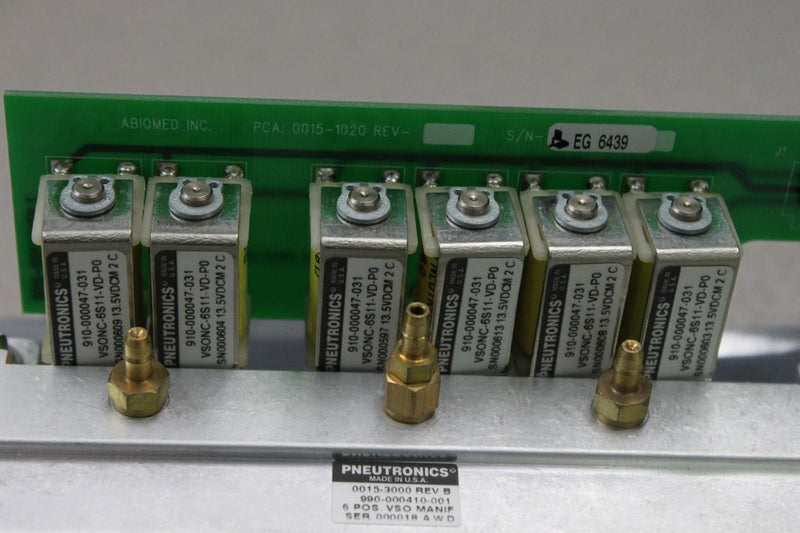 Used: (Lot of 6) Parker Pneutronics 910-000047-031 Solenoid Valves w/ 015-3000 REV B