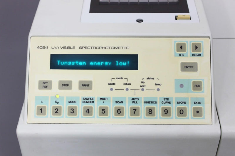 LKB Biochrom Ultrospec Plus 4054 Spectrophotmeter control panel