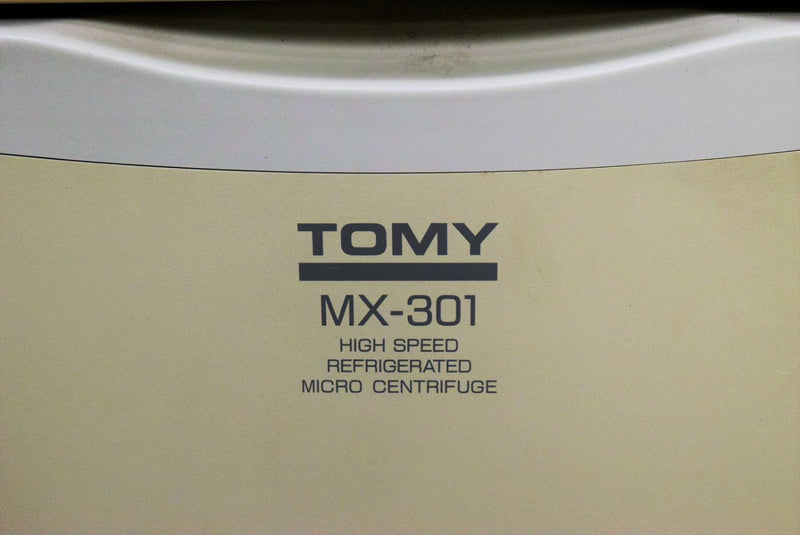 Used: Tomy MX-301 Highspeed 16000 RPM Refrigerated Micro Rack In Rotor Centrifuge