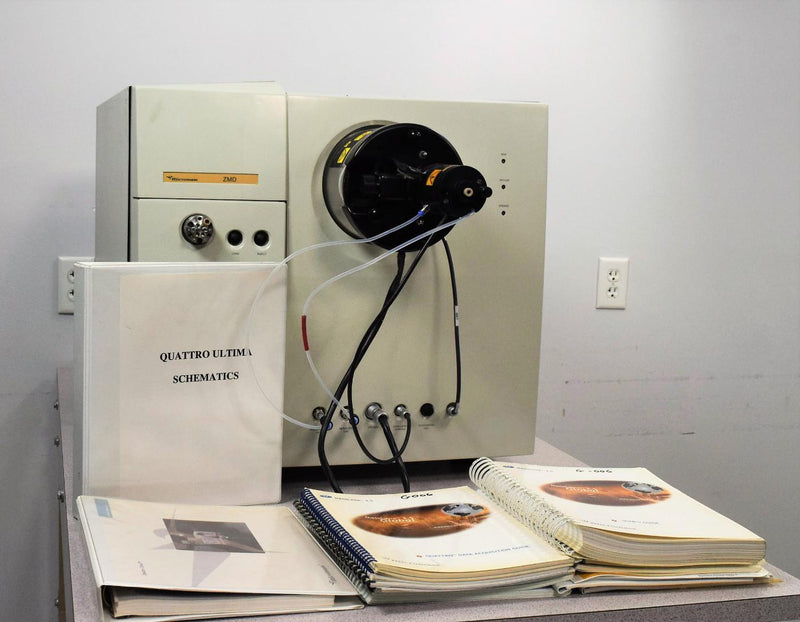 For Parts or Repair: Micromass ZMD Mass Spectrometer and User Manuals For Parts