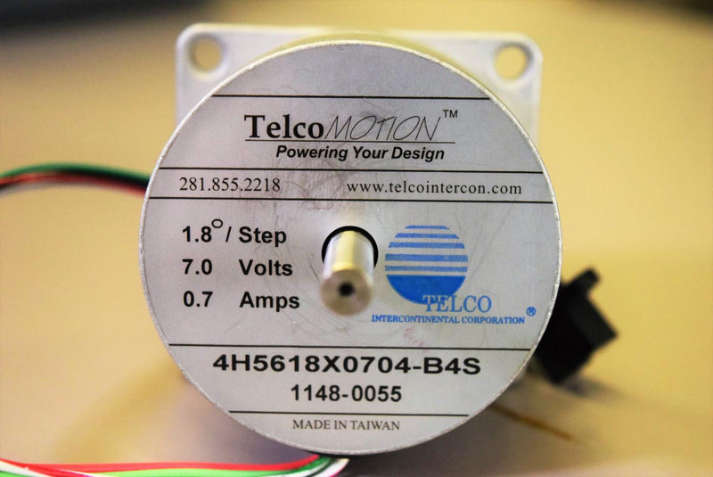 Used: Telco 4H5618X0704-B4S High Torque Stepper Motor 7V w/Optical Sensor Switch