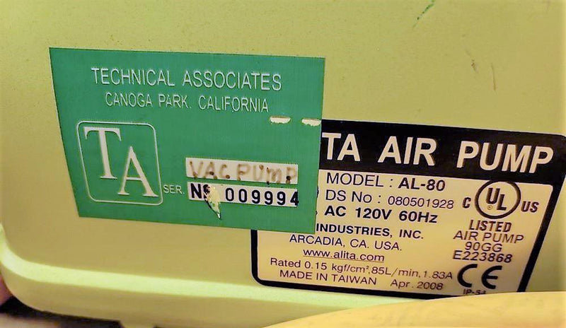 Technical Associates FM7-ABNI Iodine Air Monitor MGA-5P FIL-7D