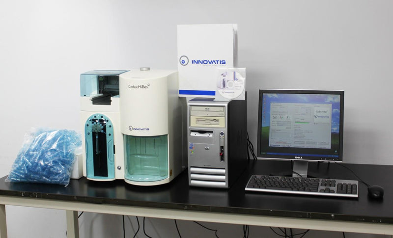 Used: Innovatis Cedex HiRes Cell Analyzer Trypan Blue Cell Counter w/ PC & Software