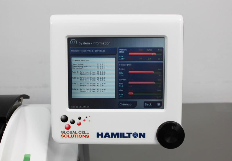 Used: Hamilton BioLevitator 3D Cell Culture Incubator GEM Global Cell Solutions