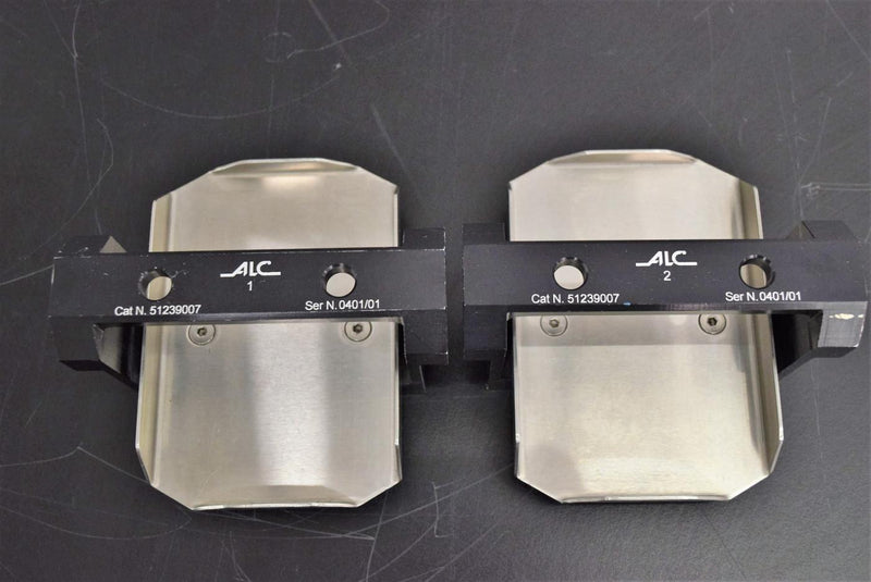 "Used: (2) ALC Cat. Number 51239007 Microplate Carriers Adapters for Centrifuge 3.5""x5"""