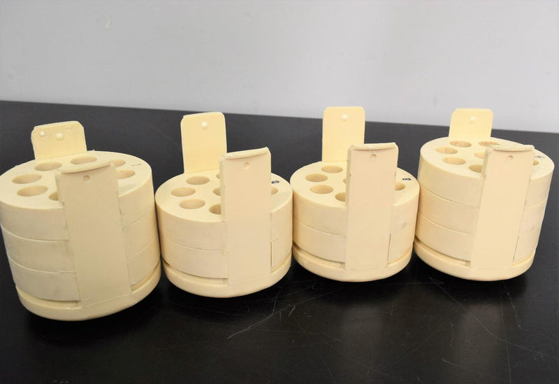 Used: (4) Rotor Inserts 9-Place 15mL for Concical Tubes