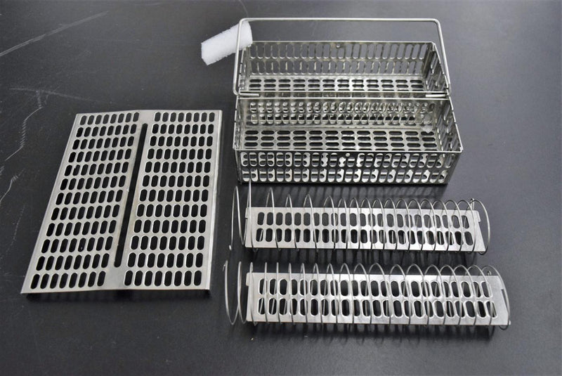 Used: Tissue Processor Embedding Baskets w/ Spiral Dividers for Leica or Sakura