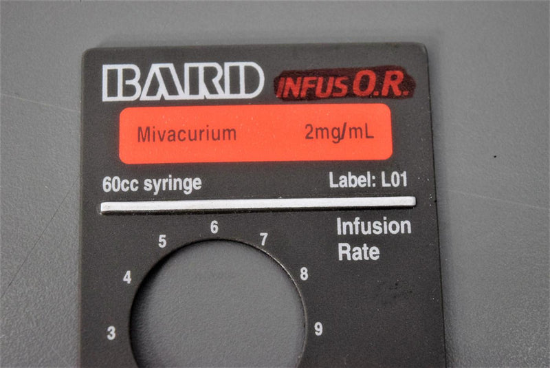 Used: Baxter/Bard InfusOR Magnetic Labels for Syringe Infusion Pumps (Lot of 5)