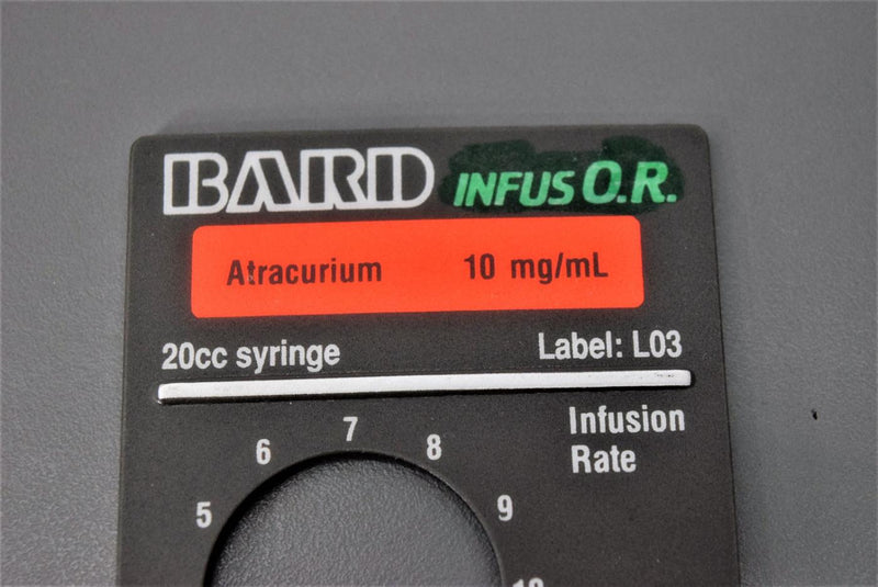 Used: Baxter/Bard InfusOR Magnetic Labels for Syringe Infusion Pumps (Lot of 4)